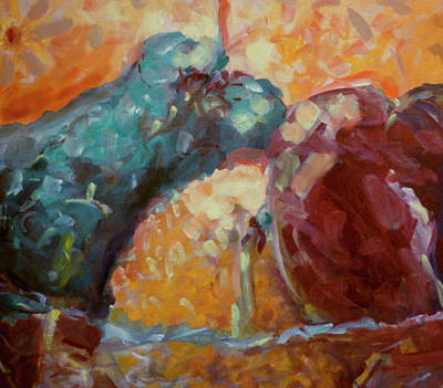 Fruitbowl Painting - Fruitbowl #2 by Susan Crowell
