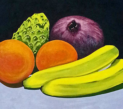 Cherimoya Painting - Fruitful by Neelee Art by Farah