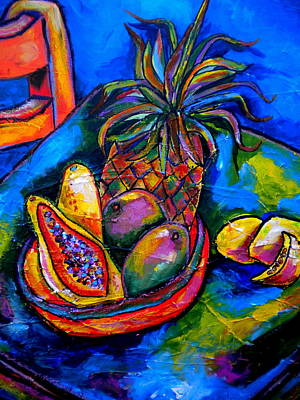Mango Wall Art - Painting - Fruitful by Patti Schermerhorn