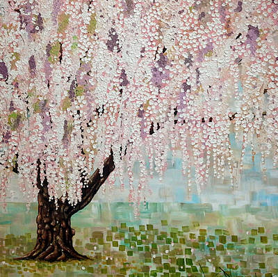 Cherry Blossoms Painting - Fruitfulness by Deda Happel