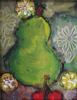 Painting - Fruits And Flowers by Gitta Brewster