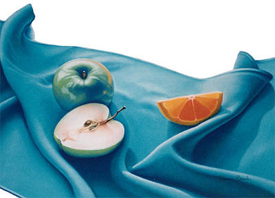 Drawing - Fruits And Linen by Donna Basile