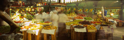 Fruits And Vegetables Stall In A Art Print by Panoramic Images