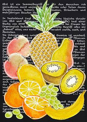 Painting - Fruits Collage by Stefanie Stark