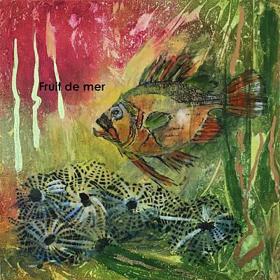 Mixed Media - Fruits De Mer by Edith Hardaway