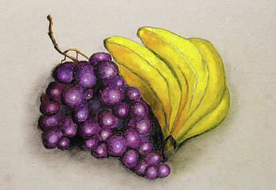 Healthy Eating Painting - Fruits For The Dining Room by Nirdesha Munasinghe