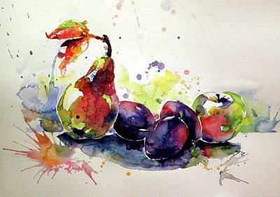Painting - Fruits by Kovacs Anna Brigitta