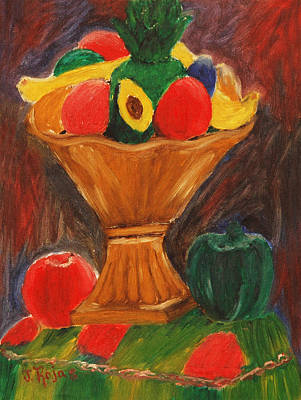 Painting - Fruits Still Life by Jose Rojas