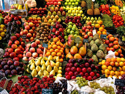 Light Lunch Photograph - Fruitstand by Jim DeLillo