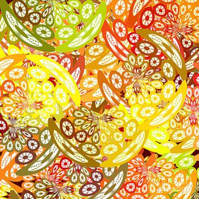Algorithmic Digital Art - Fruity Geometric Abstract by Gaspar Avila