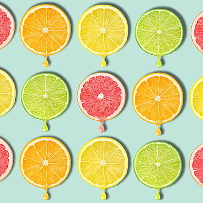 Grapefruit Digital Art - Fruity by Mark Ashkenazi