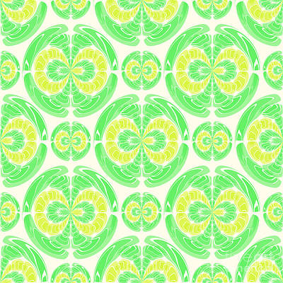 Algorithmic Digital Art - Fruity Pattern by Gaspar Avila