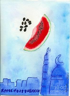 Kareem Painting - Fruity Ramadan Moon by Ayman Youssif