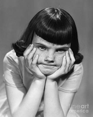 Frustrated Girl, C.1950s Art Print by Debrocke/ClassicStock