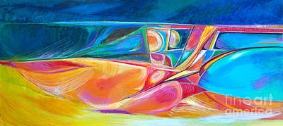 Painting - F.r.wave by Expressionistart studio Priscilla Batzell