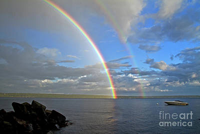 Photograph - Frye Island Rainbow by Butch Lombardi