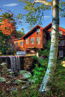 Photograph - Frye's Measure Mill - Wilton, Nh by Joann Vitali