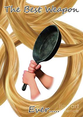 Fashion Digital Art - Frying Pan by Prar Kulasekara