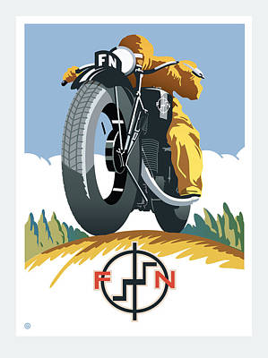 Painting - Fsn Motorcycle by Gary Grayson