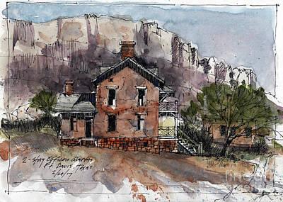 Painting - Ft. Davis Sketch by Tim Oliver