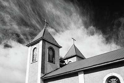 Photograph - Ft Garland Church - Black And White by John McArthur