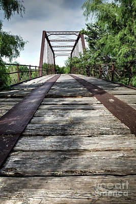 Photograph - Ft Griffin Iron Truss Bridge by Lawrence Burry