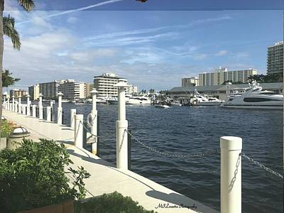 Photograph - Ft. Lauderdale, Inter-coastal by Marian Palucci-Lonzetta