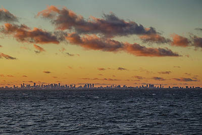 Digital Art - Miami Sunset by John Haldane