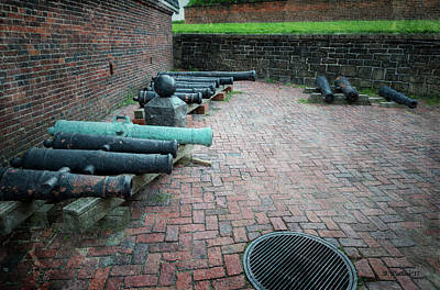 Mixed Media - Ft Mchenry Reserve Cannons by Brian Wallace