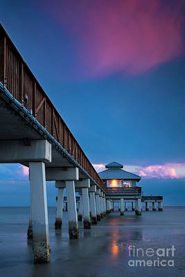 Photograph - Ft Myers Pier Evening by Brian Jannsen