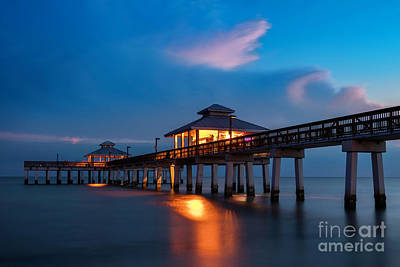 Photograph - Ft Myers Pier Twilight by Brian Jannsen