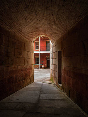 Photograph - Ft. Point Hallway by Bill Gallagher