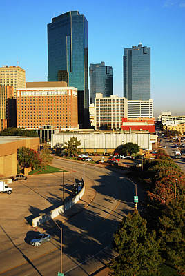 Photograph - Ft Worth Skyline by James Kirkikis