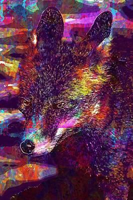 Digital Art - Fuchs Mammal Animal World  by PixBreak Art