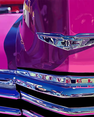Fuchsia And Chrome Art Print