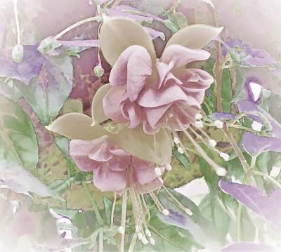 Digital Art - Fuchsia Romance by Ann Johndro-Collins