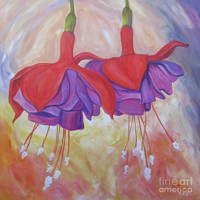 Painting - Fuchsias by Sandra Yuen MacKay