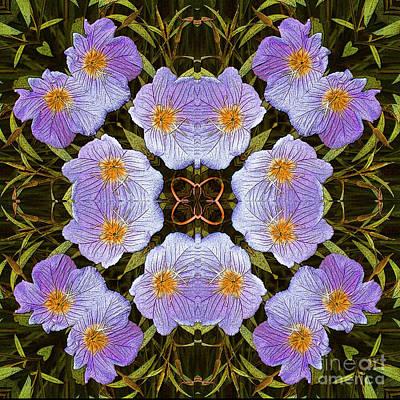 Mixed Media - Fucsia Flowers by Jesus Nicolas Castanon