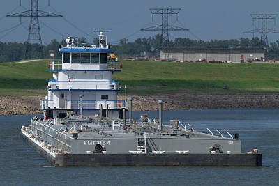 Photograph - Fuel Barge On The Mississippi R by Garry McMichael