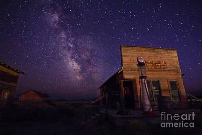 Astro Photograph - Milky Way Fuel Stop by Betty Doran