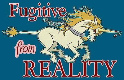 Mixed Media - Fugitive Unicorn by J L Meadows