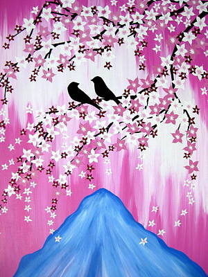 Cherry Blossoms Drawing - Fuji by Cathy Jacobs