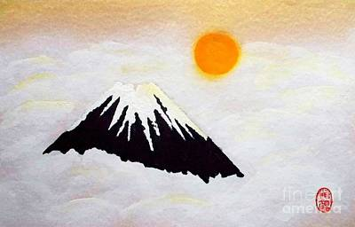 Painting - Fuji In Cloudy Mist by Roberto Prusso