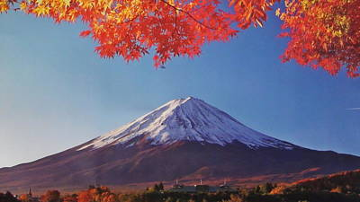 Fuji Shine In Autumn Leaves Original