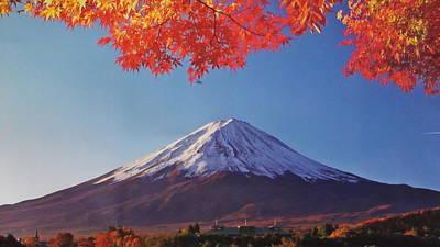 Fuji Shine In Autumn Leaves Original