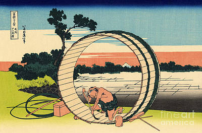 Japanese Woodblocks Painting - Fuji View Plain In Owari Province by Hokusai