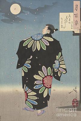 Painting - Fukami Jikyu In Moonlight,1887 by Tsukioka Yoshitoshi