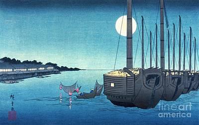 Ando Hiroshige Photograph - Fukeiga 5 by Padre Art