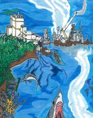 Fukushima Daiichi In Ruin Print by Justin Chase