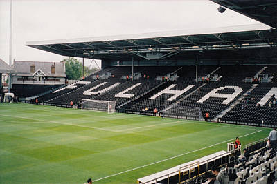 Fulham Photograph - Fulham - Craven Cottage - South Stand 2 - July 2004 by Legendary Football Grounds